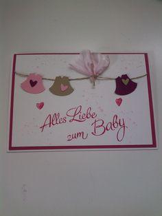 Karten Diy, Kaja, Stamping Up, Creative Cards, Baby Cards, Diy For Kids, Presents, My Love, Blog