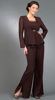 Plus size formal wear pant suits