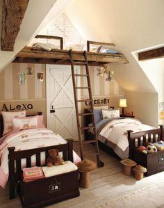 Las Habitaciones compartidas niño niña más bonitas /Dreamy boy & girl shared rooms
