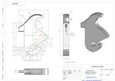 Чертежи курка пистолета Деринджер Южанин (кликните по изображению, чтобы увидеть фото полного размера)