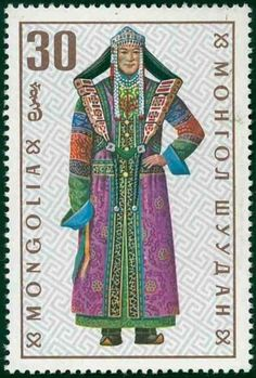 Mongolia - circa A post stamp printed in the Mongolian shows image of clothes, series Mongolian national clothes, circa 19 Stock Photo Rare Stamps, Vintage Stamps, Mongolia, Stamp World, Postage Stamp Design, Stamp Printing, Mail Art, Stamp Collecting, Costumes