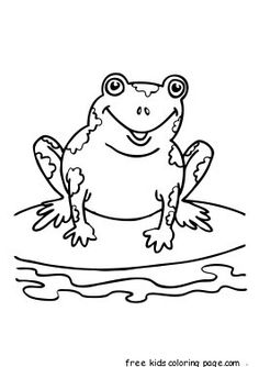 Printable coloring pages Speckled Frog