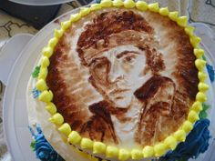 once I painted Bruce Springsteen's face on a cake