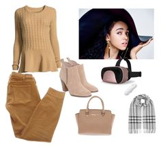 """""""Women's fashion"""" by room140701 ❤ liked on Polyvore featuring Neiman Marcus, Current/Elliott, Michael Kors, Burberry and Samsung"""
