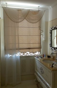 Шторы на мансардные и др. нестандартные окна Swag Curtains, Hanging Curtains, Stylish Home Decor, Roman Shades, Decoration, Blinds, Sweet Home, Design Inspiration, Windows