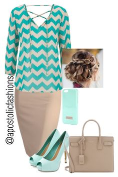 """Apostolic Fashions #582"" by apostolicfashions ❤ liked on Polyvore featuring maurices, Ted Baker and Yves Saint Laurent"