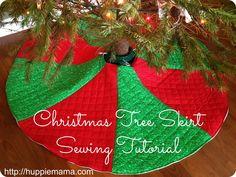 Christmas Tree Skirt Sewing Tutorial