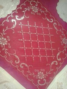 This Pin was discovered by Tub Ribbon Embroidery, Machine Embroidery, Embroidery Designs, Cross Stitch Borders, Bargello, Handicraft, Needlework, Diy And Crafts, Beads