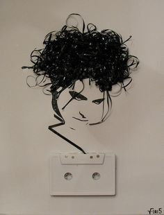 Robert Smith Cassette tape art by iri5, via Flickr