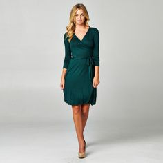 The Audrey Long Sleeve A-Line Wrap Dress