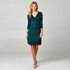 The Audrey Long Sleeve A-Line Wrap Dress