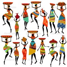 african silhouette women - Google Search