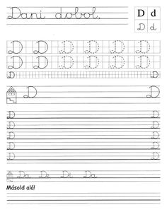 Albumarchívum Tracing Worksheets, Alphabet Worksheets, Preschool Worksheets, Home Learning, Projects For Kids, Sheet Music, Language, Lettering, Album