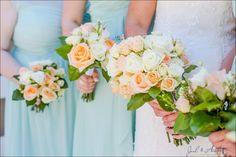 Wedding Bouquets - Mint Green and Coral Wedding at Hampton Cove Wedding Plantation - Huntsville, Alabama wedding photography - www.joelandamberblog.com