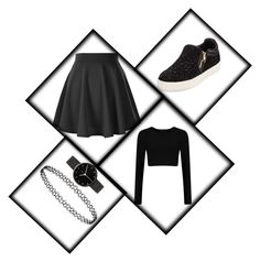 """""""#cuteblack#black##fashion #style #stylish #love #InstaTags4Likes #me #cute #photooftheday #nails @appslejandro #hair #beauty #beautiful #instagood #pretty #swag #pink #accessories #clothes #girl #girls #eyes #design #"""" by nastya-perfect ❤ liked on Polyvore featuring moda, Ash y I Love Ugly"""