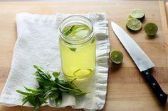 iced green tea w/ lemongrass, mint, + lime