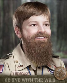 This is a new ad campaign from Ogilvy for the Scouts in the Atlanta area (US). Tag? Be one with the wild.