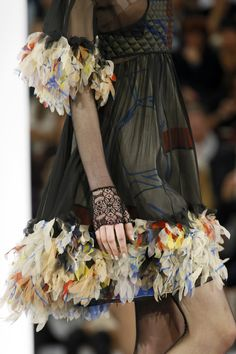 Inspiration - clever details to make a plain dress/skirt into something wonderful Chanel Spring 2013