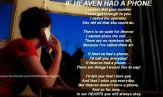 If heaven had a phone...