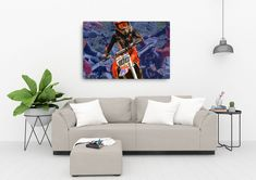 Print your favourite motocross photo on canvas! Bring your photo to life with the texture Motocross Riders, Photo Canvas, Your Favorite, Zen, Couch, Landscape, Home Decor, Settee, Scenery