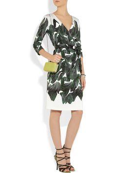 Diane von Furstenberg|Julian silk-jersey wrap dress. Shown here with: Bottega Veneta bracelet, bracelet and shoes, Maison Martin Margiela ring, Diane von Furstenberg bag.
