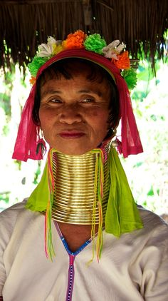 Karen tribe, Chiang Mai, Thailand...Saw a couple of ladies from this tribe :)