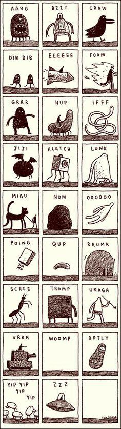 Tom Gauld's alphabet