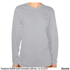Template PLAIN easy customize add text photo Pullover Sweatshirt