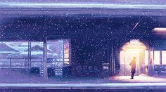 anime, girl, and kawaii image Anime Gifs, Cartoon Gifs, Anime Art, Casa Anime, Anime Places, 8 Bits, Scenery Wallpaper, Aesthetic Gif, Anime Scenery