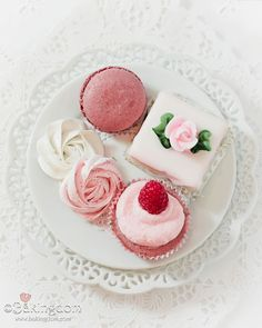 Tea-Party-Sweeties. Do pink, cream, and gold treats.