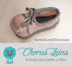 Patucos Modelo UVI by Chorus Lains Bicolor Rosa palo/Gris