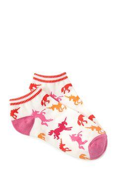 Prancing Unicorn Ankle Socks | FOREVER21 - $1.50