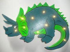 Cute Dino Dinosaurier Triceratops LED Wandlampe Nachtlicht Schlummerlicht Lampe NEU