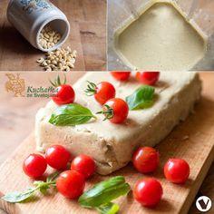 Kuchařka ze Svatojánu: VEGANSKÝ SÝR Z KEŠU Raw Food Recipes, Paleo, Dairy, Vegetarian, Cheese, Healthy, Free, Raw Recipes, Health