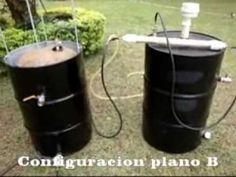 Biogas casero, 2 sistemas con 3 configuraciones - YouTube