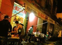 Mexcal Bars in Mexico City - serving the infamous mexcal spirit (similar to tequila). Best enjoyed as a shot.