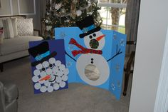 Christmas Party Classroom Party Snowman Toss and Punch Game