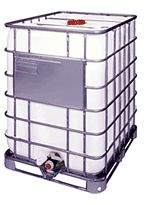 275 Gallon Poly Tote In Steel Cage Residential Recycled