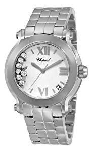 Chopard Women's Happy Sport Round II Diamond White Dial Watch Short Description Stainless steel case with Cool Watches, Watches For Men, Wrist Watches, Woman Watches, Lucien Piccard, Online Watch Store, Chopard, Watch Model, Watch Sale