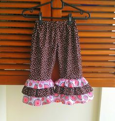 Ruffle Pants Sewing Pattern for Girls, Girls' Pants Pattern.