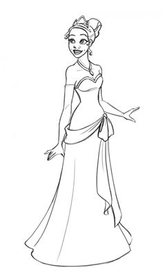 Princess Tiana Coloring Pages To Print 870x