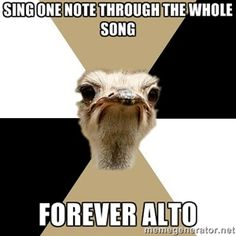 sing one note through the whole song forever alto | Music Major Ostrich