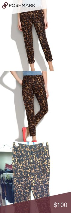 Madewell trousers Madewell pants trousers by their in house brand Broadway & broom spotshadow trousers slacks comfortable a cool graphic print makes these menswear-style pants instant statement makers 100% cotton acid wash print spotted pants polka dot sold out online Madewell Pants Trousers
