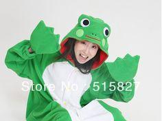 Animal Long-Sleeve Fleece  Women Frog Sleepwear Cosplay Costume Homewear #Affiliate