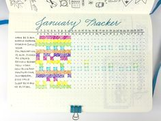 A huge part of my nightly routine is to update my monthly tracker