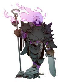 Character Designs - Knight Of The Omen / Mecha Gambler / Synthetic Barb, Brother Baston on ArtStation at https://www.artstation.com/artwork/WW1JN