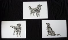 Golden Retriever Chiyogami HandCut Silhouette by popdogpress
