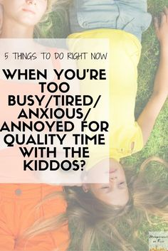 Oh goodness! I always feel so bad because my kids want to play or need something me and I am too tired. I want quality time with them but always feel so exhausted. I totally need to start taking care and can easily do one of these things! How about sleep??