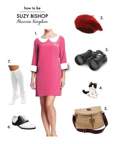 How to be Suzy Bishop in Wes Andersons Moonrise Kingdom. #halloween #costume