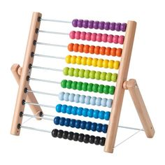 IKEA MULA Abacus One yellow, three greens and two blue ones. This abacus helps your child practice both maths and colours – and proudly show you their new skills.